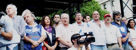 Pacagnini y Gimé-nez estuvieron en el palco junto a Bodart, Ripoll y Pino Solanas.